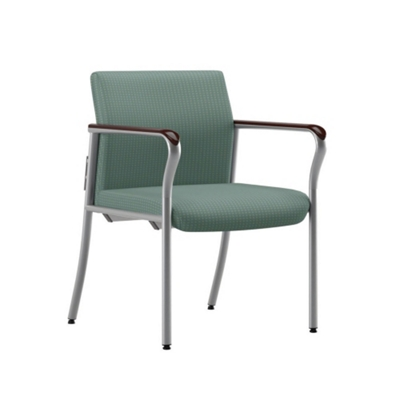 Easy-Clean Fabric Guest Chair with Wall Saver Legs