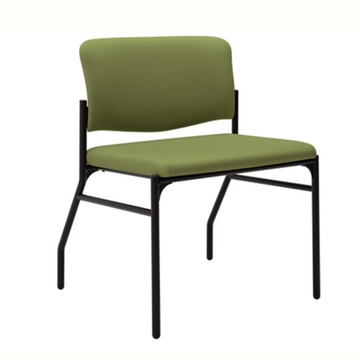Mid-Size Armless Bariatric Fabric Guest Chair with Wall Saver Legs