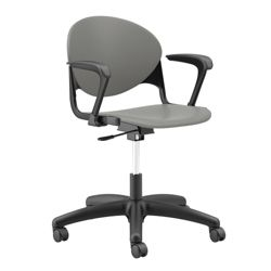 Plastic Task Chair with Black Frame