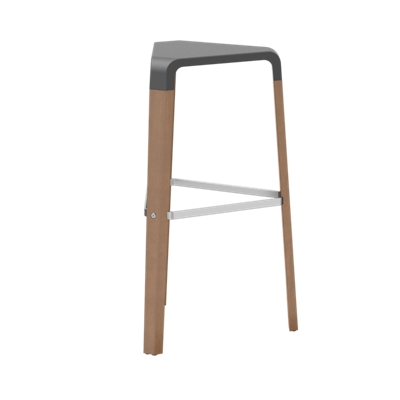 Bar-Height Stool Wood with Poly Seat