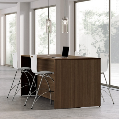 Collaborative Counter Height Table with Stools