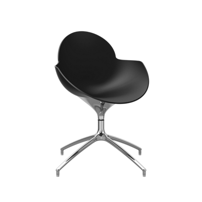 Polypropylene Shell Swivel Chair with Metal Base