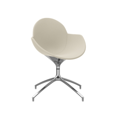 Vinyl Upholstered Swivel Chair with Metal Base
