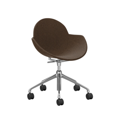 Fabric Upholstered Chair with Casters