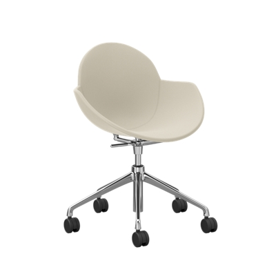 Vinyl Upholstered Chair with Casters