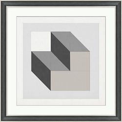 "Analytical Placement 4 Framed Art - 28""W x 28""H"