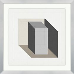 "Analytical Placement 5 Framed Art - 28""W x 28""H"