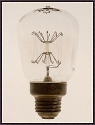 "Oversized Light Bulb 1 Framed Canvas Art Print - 38""W x 50""H"