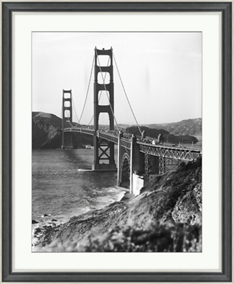 "Golden Gate Bridge Framed Photography - 28""W x 34""H"