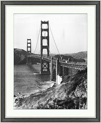 "Golden Gate Bridge Framed Photography - 28""W x 34""H"