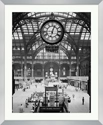 "Train Station Framed Photography - 28""W x 34""H"