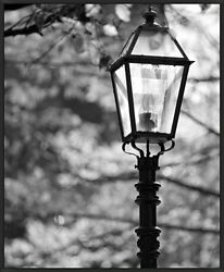 "Street Lamp Framed Canvas Photography Print - 28""W x 34""H"