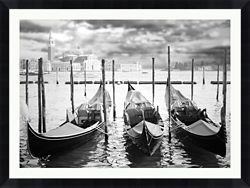 "Three Boats Framed Photography - 48""W x 36""H"