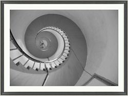 "Spiral Staircase Framed Photography - 48""W x 36""H"