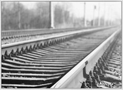 """Railroad Track Framed Canvas Photography Print - 60""""W x 44""""H"""