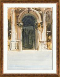 "Venetian Watercolors 1 Framed Art Print - 28""W x 36""H"