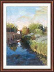 "Canal at Santa Barbara Framed Art Print - 36""W x 48""H"