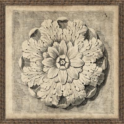 """Medallion 1 Framed Art Print - 50""""W x 50""""H"""
