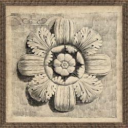 """Medallion 2 Framed Art Print - 50""""W x 50""""H"""