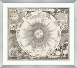 "Systema Solare Et Planetareium Framed Art Print - 34""W x 30""H"
