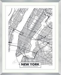 "NYC Framed Map Print - 40""W x 49""H"