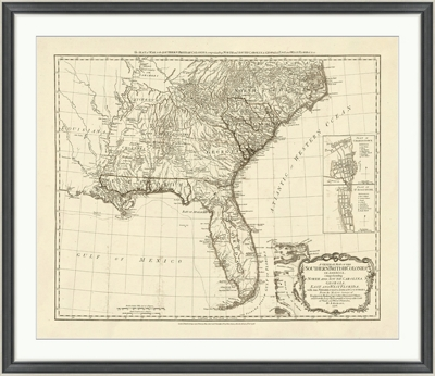 United States Framed Map Print 44 W X 38 H By Wendover Art Nbf Com
