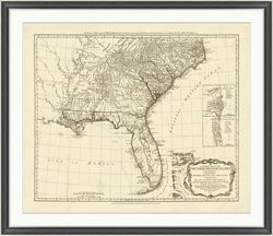 "United States Framed Map Print - 44""W x 38""H"