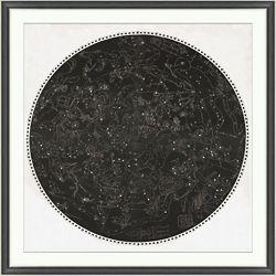 "Zodiac Star Chart Framed Art Print - 42.5""W x 42.5""H"