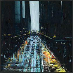 "Urban Vibe Framed Canvas Art Print - 44""W x 44""H"