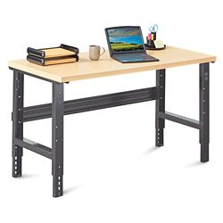 "Annex Industrial Adjustable Height Compact Desk - 60""W"