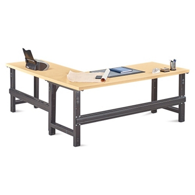 Annex Industrial Adjustable Height L Desk   72W   14328 And More Lifetime  Guarantee