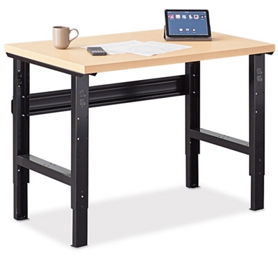 Annex Industrial Adjustable Standing Height Compact Desk   48W   14330 And  More Lifetime Guarantee