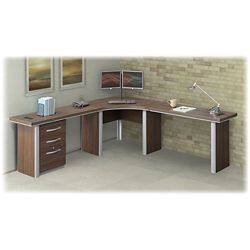"Metropolitan Corner Desk with Pedestal - 47""W"