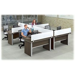 Metropolitan Four L-Desk Workstation Set