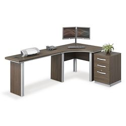 "Metropolitan J Desk with Pedestal - 96""W"