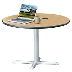 "Frappe Standard Height Round Table with Power - 42""W"