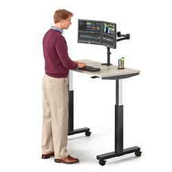 "Lift Pneumatic Adjustable Height Table - 47""W"
