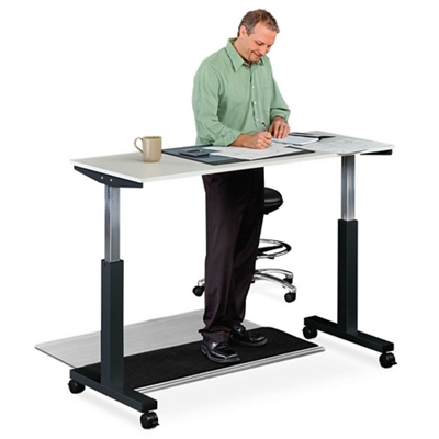 "Lift Pneumatic Adjustable Height Table - 59""W"