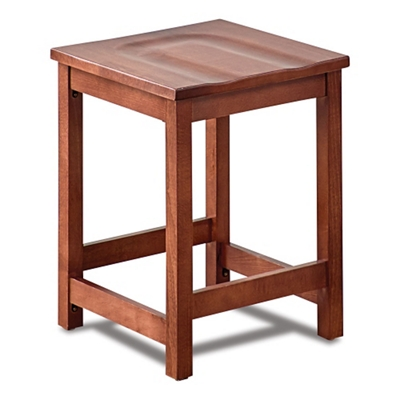 Rustico Solid Wood Counter Height Café Stool