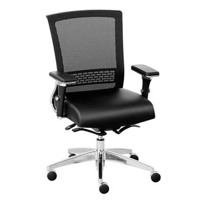 Array Faux Leather Seat Mesh Back Ergonomic Chair