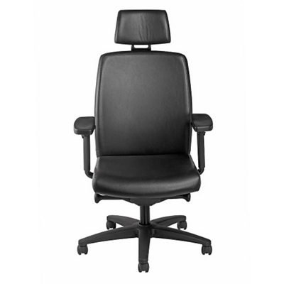 High Back Leather Chair with Headrest