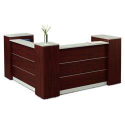 "Tower Reception Desk with Lockable Storage - 86.6""W"