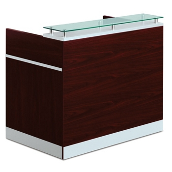 Product Video 360 Preview. Esquire Glass Top Reception Desk ...