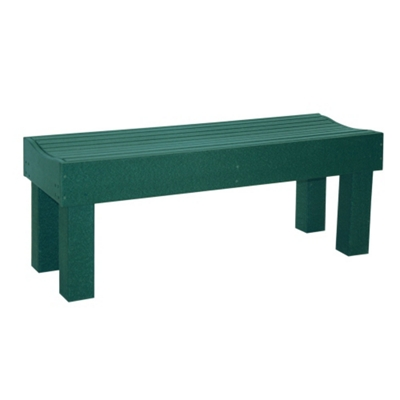 Backless Mall Bench 6'