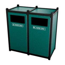 Double Sideload Waste Bin with 32 Gallon Capacity
