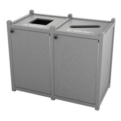 Double Topload Waste Bin with 26 Gallon Capacity
