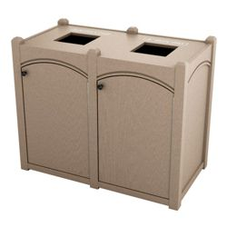 Double Topload Arch Waste Bin with 32 Gallon Capacity