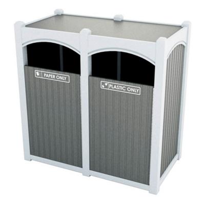 Double Sideload Bead Board Arch Waste Bin 45 Gallon Capacity