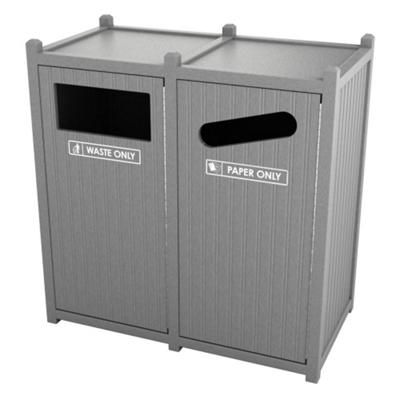 Double Sideload Bead Board Waste Bin with 45 Gallon Capacity