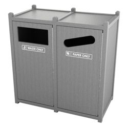 Double Sideload Bead Board Waste Bin 26 Gallon Capacity